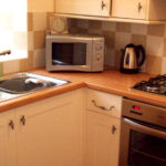 Photograph of the kitchen in Clougha View Cottage